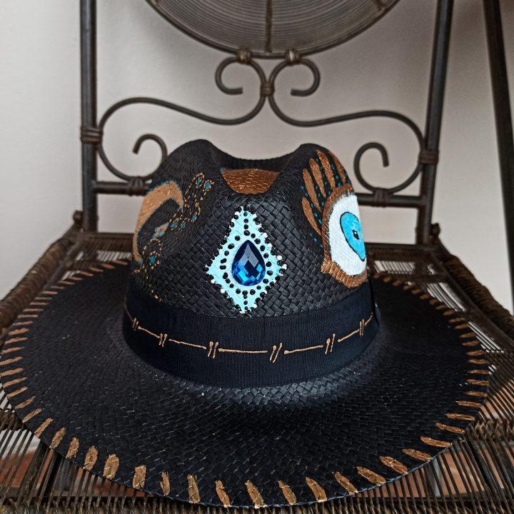 Ψάθινο Καπέλο Ζωγραφισμένο Diamond Eye