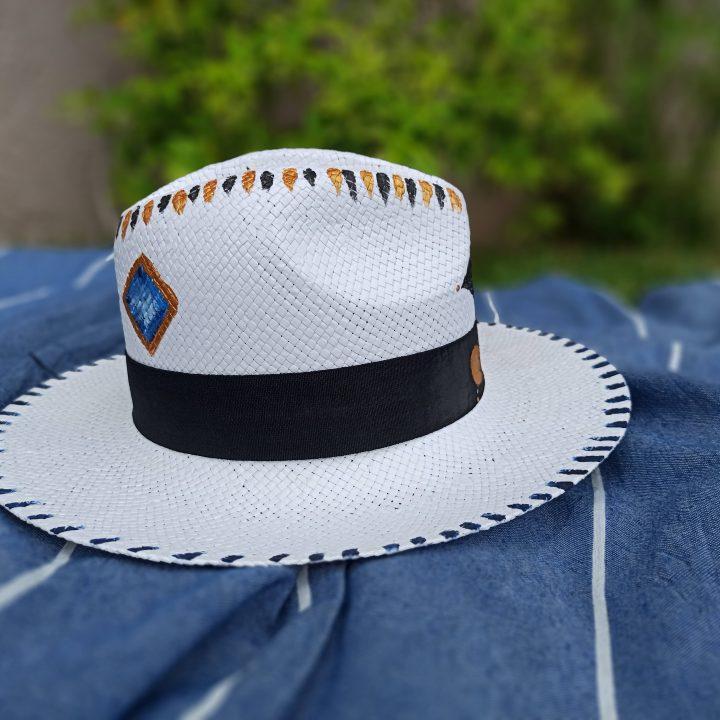 Ψάθινο Καπέλο Ζωγραφισμένο Lucky Eye